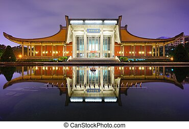TAIPEI - JANUARY 14: Sun Yat-Sen Memorial Hall January 14, 2013 in Taipei, TW. Sun-Yat Sen is considered the founder of the Republic of China.