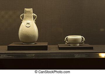 taipei, taiwan, -, november, 24, :, régimódi, vannak, elárul, alatt, taipei's, nemzeti palace, múzeum, képben látható, november, 24, 2016, alatt, taipei, taiwan, asia.