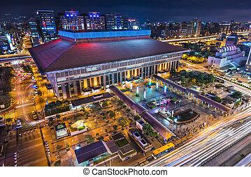 Taipei, Taiwan at Taipei Main Station in the Zhongzheng district.