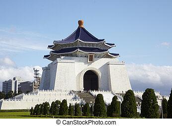 Taipei,Taiwan, February, 12th, 2012:Chiang Kai-shek Memorial Ha