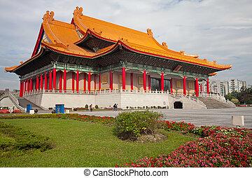 taiwán, nacional, democracia, squar