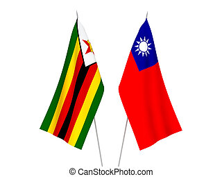 Taiwan and Zimbabwe flags - National fabric flags of Taiwan ...