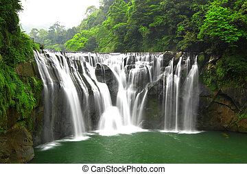 taiwan, chutes d'eau, shifen