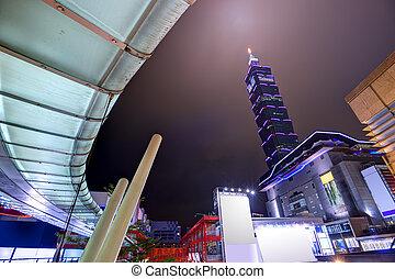 Taiwan Cityscape - Nighttime cityscape in Taipei, Taiwan.