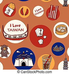 taiwan, concept, voyage, fond