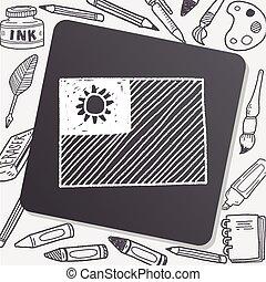 Taiwan flag doodle