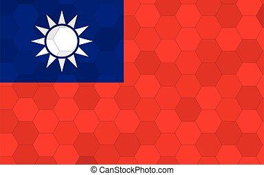 Taiwan flag illustration. Futuristic Taiwanese flag graphic ...