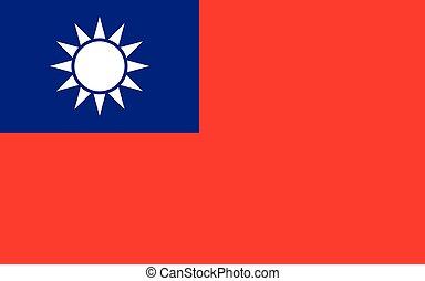 Taiwan flag vector graphic. Rectangle Taiwanese flag ...