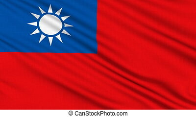 Taiwan Flag, with real structure of a fabric