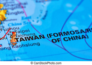 Taiwan Island on the Map