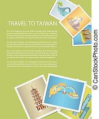 taiwan, photos, voyage, promotion, affiche