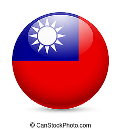 taiwan, redondo, lustroso, ícone