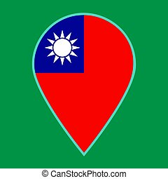 Taiwan Republic of China flag icon travel vector