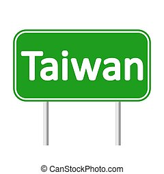 Taiwan road sign isolated on white background.