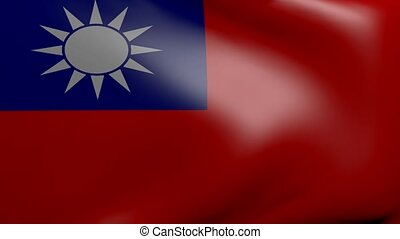 taiwan strong wind flag