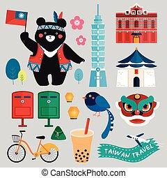 Taiwan symbols collection