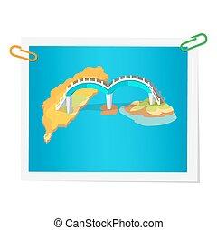 Taiwanese Bridge on Isolated Picture on White - Taiwanese ...