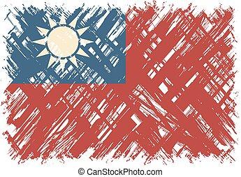 Taiwanese grunge flag. Vector illustration. Grunge effect ...