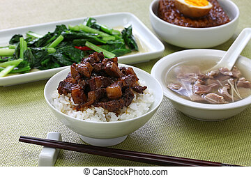 taiwanese home cooking: braised pork rice, chicken gizzard ...