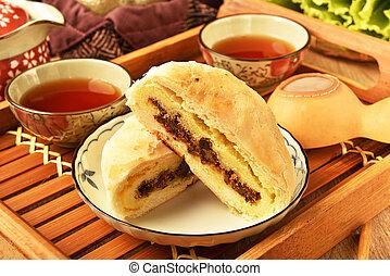 Taiwanese traditional moon cake , festival dessert