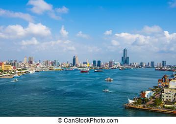 taiwan's, tweede, grootste, stad, -, kaohsiung