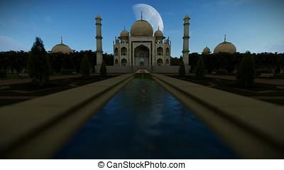 Taj Mahal 24 hour timelapse, 4K