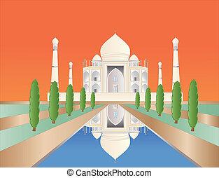 Taj Mahal at sundown