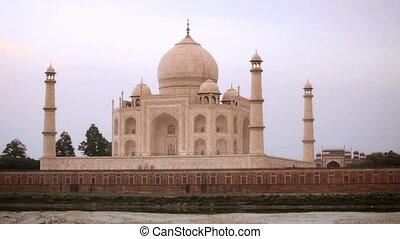 Taj Mahal at Sunset - Taj Mahal at sunset, time lapse, Agra,...