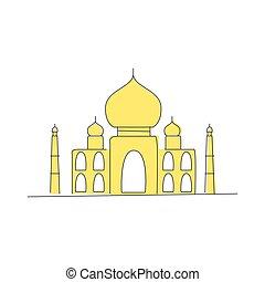 Taj Mahal Building In India