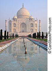 Taj Mahal during the morning time, Agra, India.