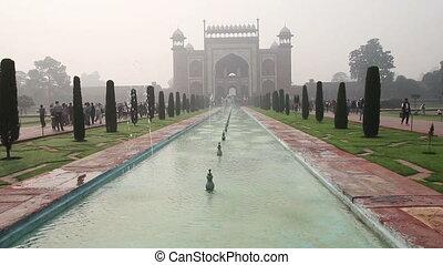 Taj Mahal entrance in Agra India