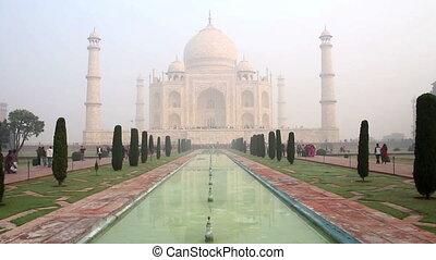 Taj Mahal - famous mausoleum in Agra India
