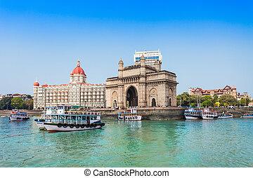 Taj Mahal Hotel and Gateway of India - The Gateway of India...