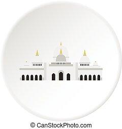 Taj Mahal icon circle