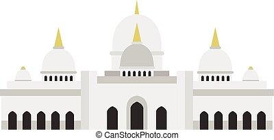 Taj Mahal icon, flat style - Taj Mahal icon in flat style...