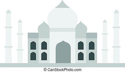 Taj Mahal icon isolated