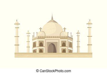 Taj Mahal illustration - Taj Mahal in flat style isolated on...