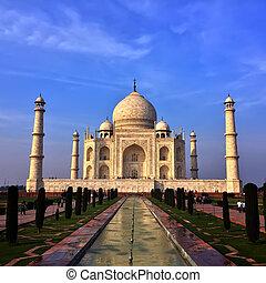 taj mahal, in, agra, uttar pradesh, india.