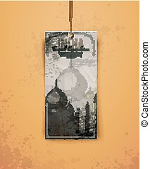 Taj Mahal. India. vintage hand drawn vector illustration