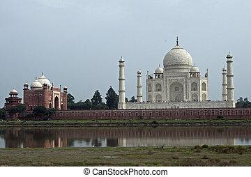 Taj Mahal on the Bank of the Yamuna