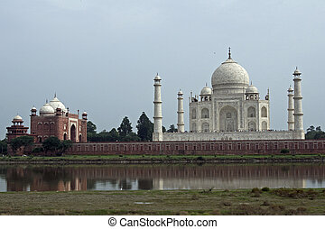 Taj Mahal on the Bank of the Yamuna