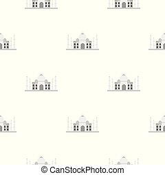 Taj Mahal pattern seamless for any design vector...