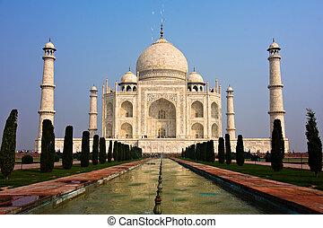 Taj Mahal - The Taj Mahal mausoleum - Agra, Uttar Pradesh,...