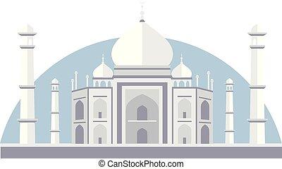 Taj Mahal Vector Illustration - Vector illustration of Taj...