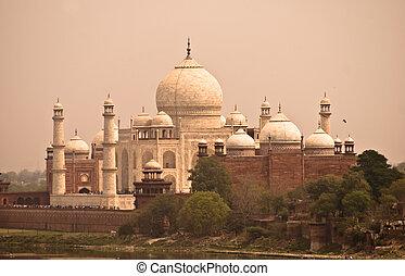 Taj Mahal view fron Agra Fort, Agra, India