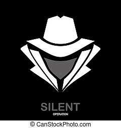 tajemnica, hacker., szpieg, icon., służba, incognito., agent...