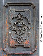 tajemniczy, drzwi