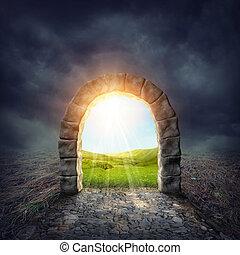 tajemniczy, wejście