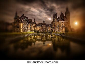 tajemniczy, zamek