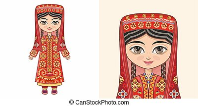 Tajik girl in national costume